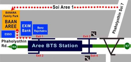 map to Baan Aree