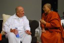 David Holmes thinks we only keep his picture because Ven Dhammananda is in it too!