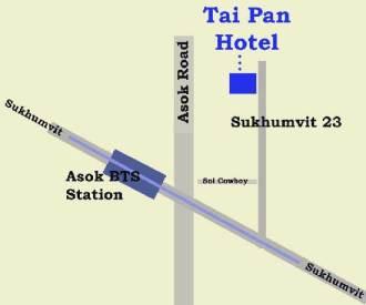 Map to Tai Pan Hotel - Sukhumvit23