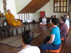 Thai monk A. Wimaok at Ariyasom Villa